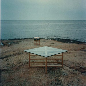 tables outside on a beach