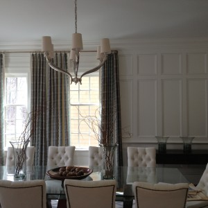 table with vases of a custom home