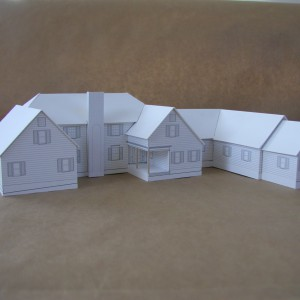paper mock-up of a custom home